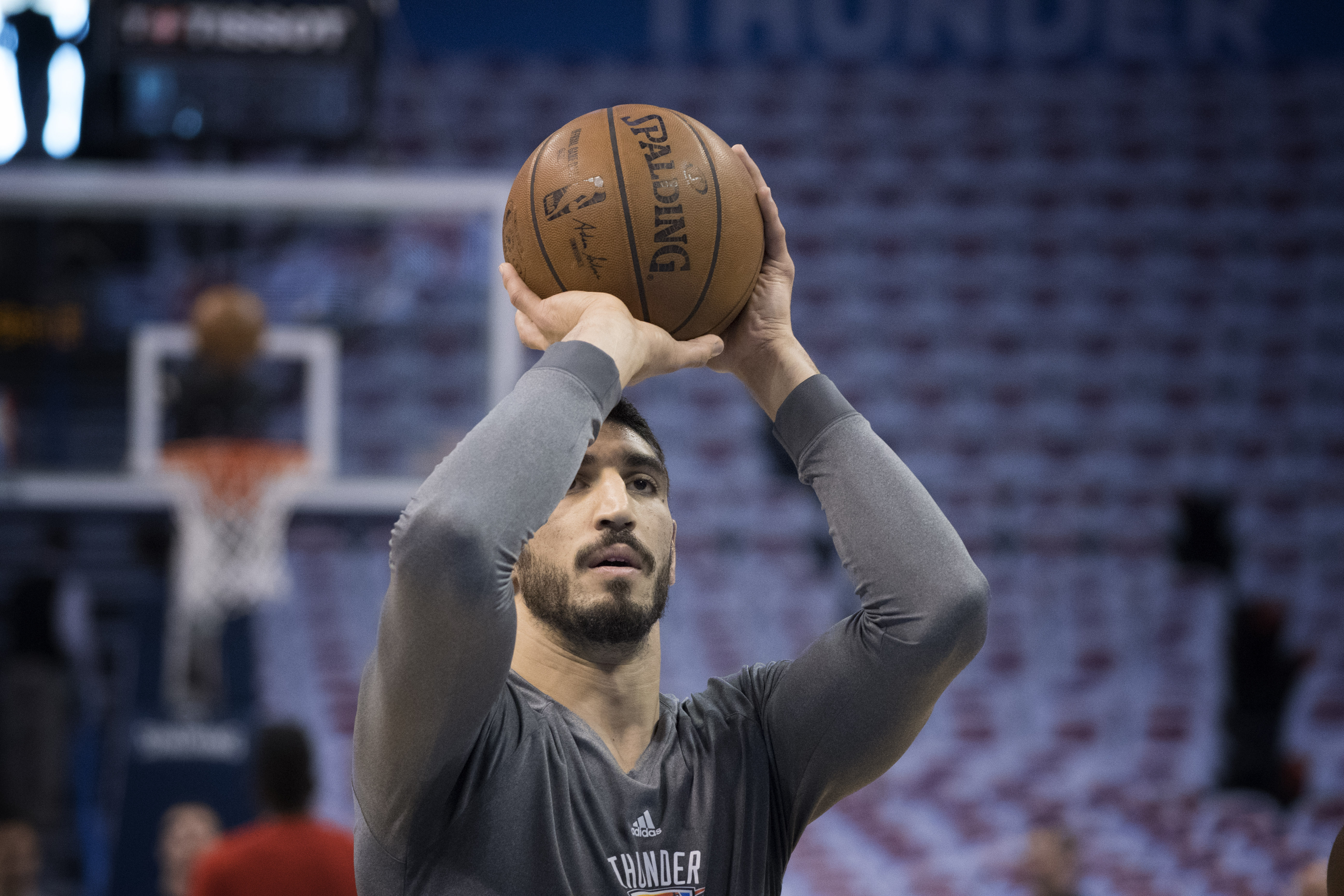 enes kanter works out with kevin durant  lebron james and