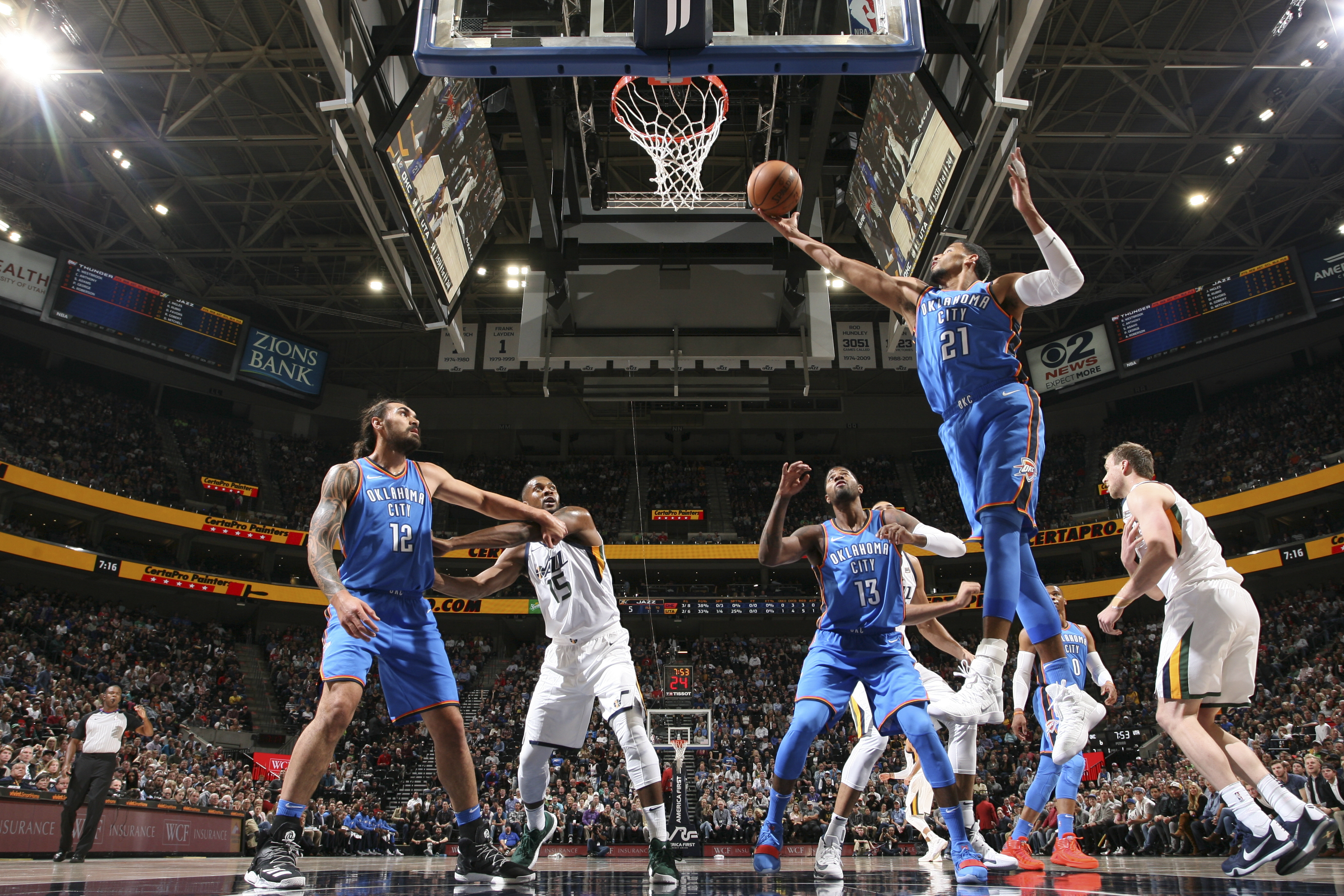 Okc Thunder Player Grades Loss Utah Jazz