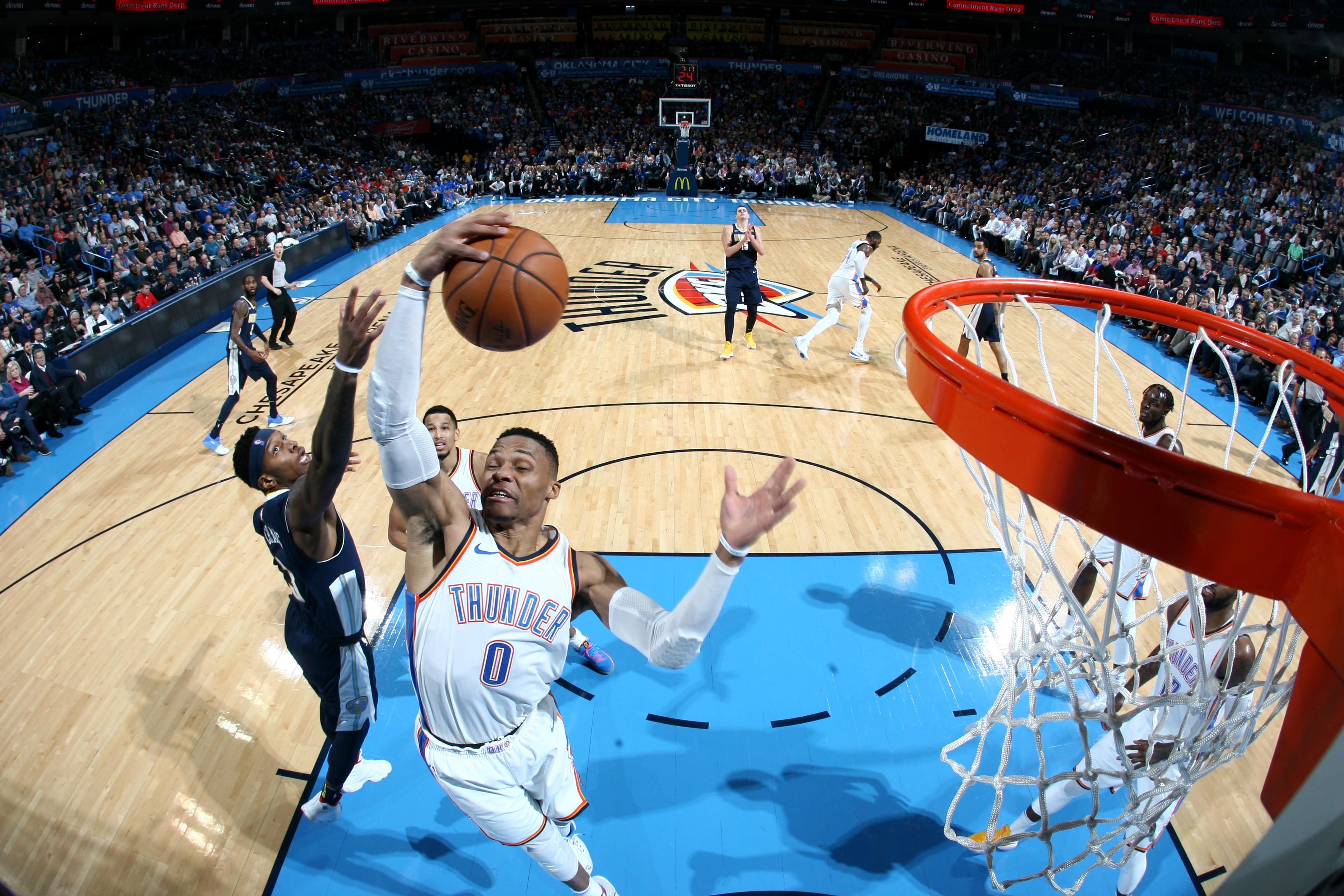 Westbrook's season-high 38 lead Thunder past Nuggets