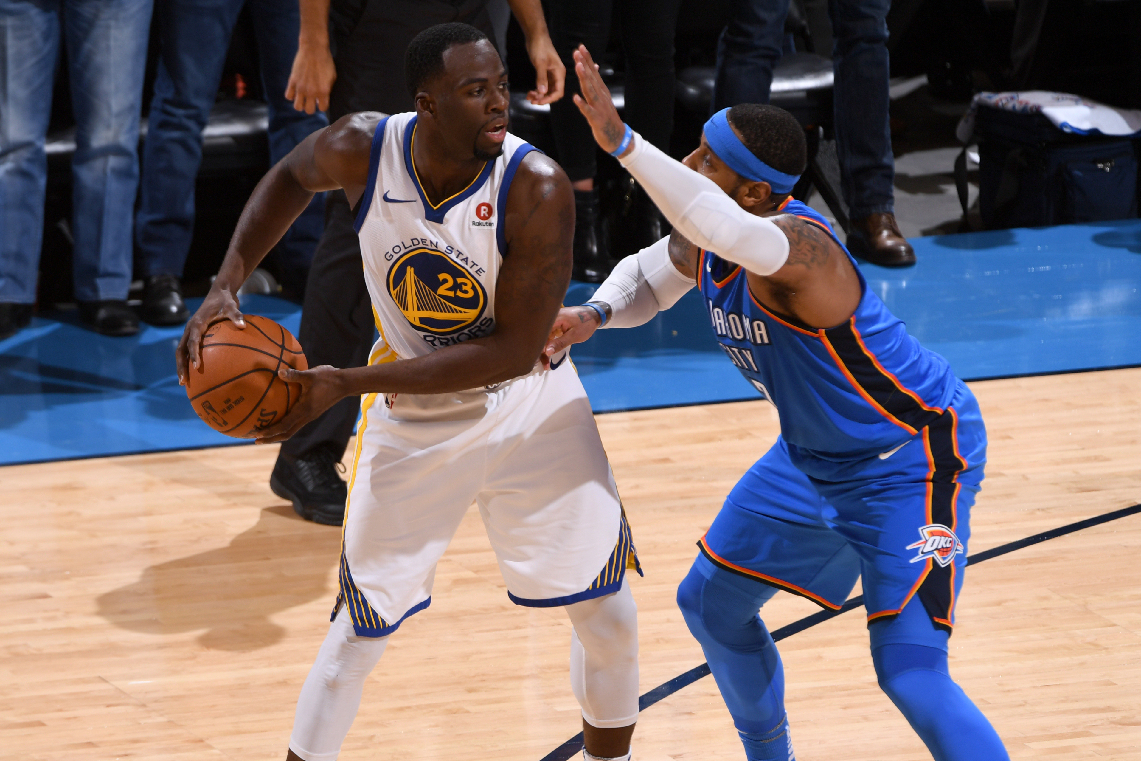 Russell Westbrook, Paul George lead Thunder rout of stumbling Warriors